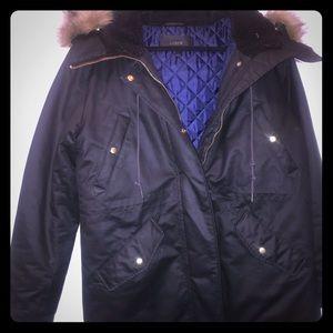 J. Crew Large Black Coat Jacket
